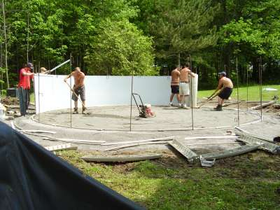 Unrolling the Above Ground Pool Wall