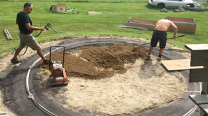 how to install an above ground pool - adding sand