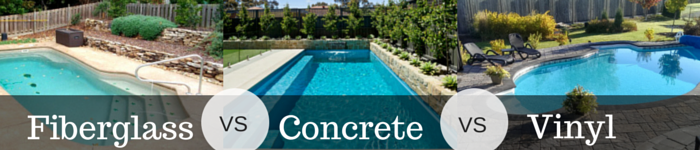 Vinyl vs concrete vs fiberglass swimming pool