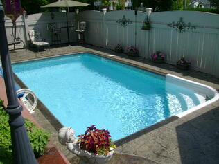 Inground Pool Design Ideas for BBQ